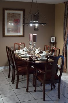 My gorgeous new Dining Room! Designed by Marlene Stotts of Exquisite Interior Decor.