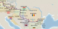 Map of the Lower Danube River (Image: Viking River Cruises) Danube River Cruise, European River Cruises, Viking River, Vienna Austria, Cruise Travel, Bucharest, Map, Vacations, Romantic