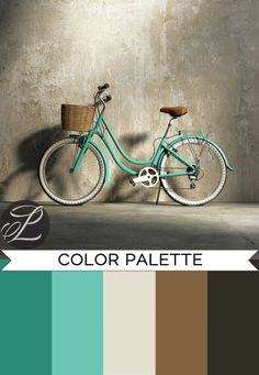 Color Palette turquoise and brown shades: Bicycle