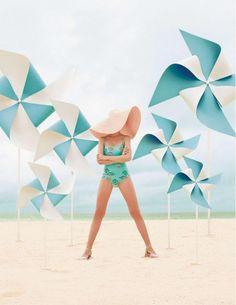 Aqua pinwheels