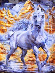 Majestic Horse, Beautiful Horses, Horse Sketch, Arabian Art, Horse Artwork, Horse Drawings, Equine Art, Mural Painting, Pictures To Paint