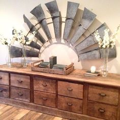 My Sweet Savannah: ~get the look of Magnolia Homes Fixer Upper with Etsy~windmill as wall art