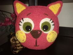 54 Ideas for crochet cat pillow cushion covers Crochet Cushion Cover, Crochet Pillow Pattern, Crochet Headband Pattern, Crochet Cushions, Crochet Toys Patterns, Cushion Covers, Chat Crochet, Crochet Home, Crochet For Kids