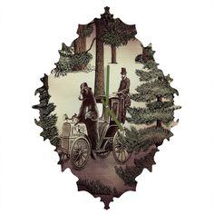 Belle13 My Grandpa Had A Bear Who Had A Squirrel Baroque Clock | DENY Designs Home Accessories