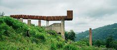 Walkway-lookout at las Minas de Rioseco