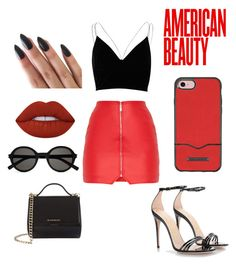 """Sin título #267"" by cami02 ❤ liked on Polyvore featuring River Island, Gucci, Givenchy, Yves Saint Laurent, Rebecca Minkoff and Lime Crime"