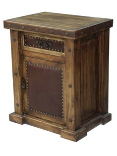 rustic wood night stand