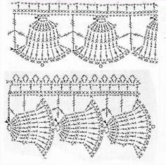 Weihnachten borte häkeln - crochet edging