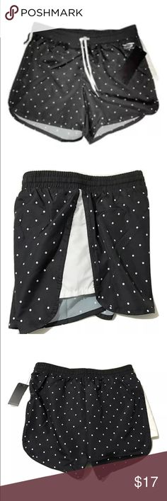 NEW Skechers Sport Athletic/Running Shorts NEW Skechers Sport Athletic/Running Shorts SIZE Small MSRP on tag is $30  Super cute athletic style shorts in black & white polka dot print Stretch waistband, with a drawstring as well Built in panty Size: Small Waist: 28 inches around unstretched Inseam: 4 inches 100% Polyester  Thank you so much! Skechers Shorts