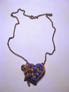 Vintage 1960s Blue Moonglow and Rhinestone by delightfullyvintage, $19.00