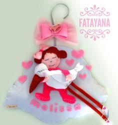FATAYANA annuncio nascita - fiocco nascita bambina - cicogna #fattoamano #handamade #fiocconascita #annuncionascita #fioccobimba #nascita #cicogna #nuvola