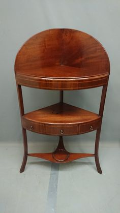Georgian Mahogany corner wash stand with single drawer. Georgian Furniture, Wash Stand, Get Directions, Corner, Chair, Antiques, Interior, Table, Home Decor