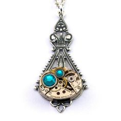 Steampunk Necklace  Gorgeous Clockwork Design by LondonParticulars, $55.00