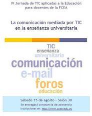 Afiche IV Jornada de TIC aplicadas a la educación para docentes de la FCEA