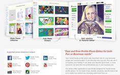Profile Picture Maker es una genial utilidad web gratuita para retocar, editar y crear excelentes Imágenes de Perfil para usar en nuestras Redes Sociales.