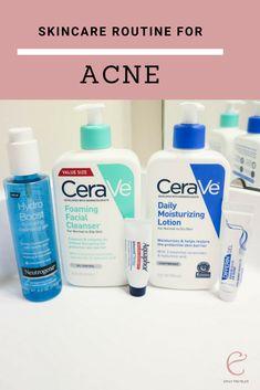 Current skincare routine for acne prone skin. Current skincare routine for acne-prone skin. Acne Prone Skin, Oily Skin, Sensitive Skin, Skin Care Regimen, Skin Care Tips, Skin Tips, Skin Care Routine For 20s, Skincare Routine, Skin Care Remedies