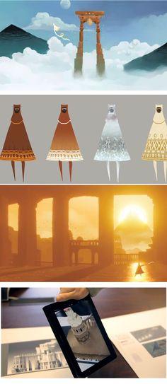Arte do game Journey, da ThatGameCompany | THECAB - The Concept Art Blog