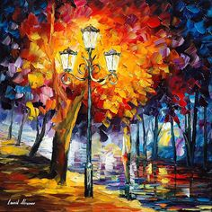 Painting - Meditation by Leonid Afremov Night Sky Painting, River Painting, Family Painting, Painting Snow, Autumn Painting, Light Painting, Oil Painting On Canvas, Colorful Paintings, Beautiful Paintings