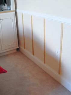 Cheap and easy wainscoting