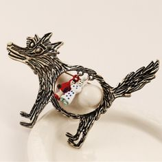 Big Bad Wolf Pin-Coming soon Made of Zinc Alloy metals - fun red riding hood big bad wolf brooch /pin- new in package - no tags Mystic Jewelry Brooches