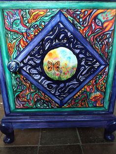 Handpainted Magical Cabinet Upcycled bedside by NirgunaFurniture, £179.99