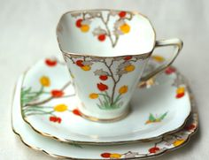Standard China Vintage Eggshell China Trio by modernlookvintage, $58.00