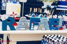 Festa tema marinheiro | Festa infantil | Decoração Mariah festas #nomedecorado #festamarinheiro