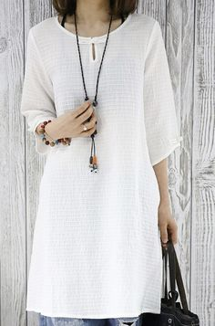 2016 New summer dress white cotton shirt dress plus size women blouse sundresses