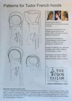 Tudor French Hoods - Renaissance Fabrics