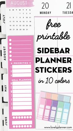 Monthly Calendar Index Stickers Lable Marker Note for Planner Appointment CB