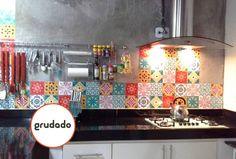 Adesivos de Azulejo para renovar a Cozinha | Grudado