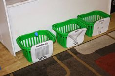 Place value toss - part of a great collection of place value activities perfect for math stations.