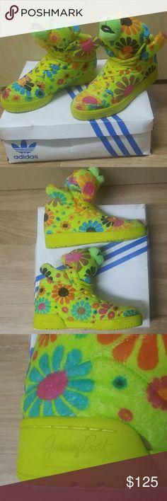 033c30fc5c40 Jeremy Scott flower power bear adidas shoes Jeremy Scott Adidas bear tennis  shoes comes with original