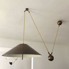 Modernist PENDELZUGLEUCHTE  | PENDELLEUCHTE | Hängelampe mit Gegengewicht von WKR | Ø 50 cm | 3 x E27