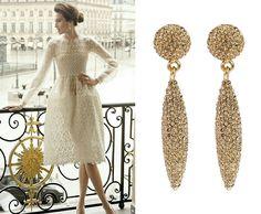 Kolczyki SHARON w pięknej szampańskiej odsłonie. Eleganckie, a przy tym kobiece i zmysłowe, urzekają niebanalnym designem.