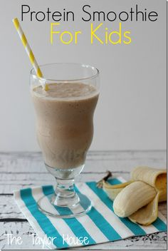 Add protein to your child's diet with a smoothie made with ricotta cheese and peanut butter.