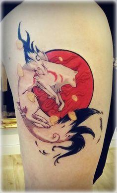 Okami Tattoo- Done! by Aku-Soku-San