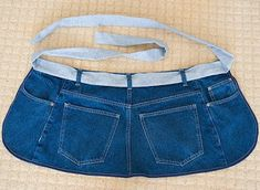 How to make an apron from blue jeans