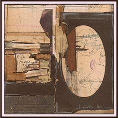 """Eigner's Window"" 8""x8"". Collage on paper."
