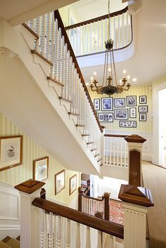 Foyer and staircase Beautiful Stairs, Beautiful Homes, House Stairs, Front Stairs, Stairway To Heaven, Staircase Design, Staircase Storage, Stairways, My Dream Home