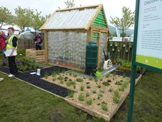 The plastic bottle greenhouses and the planted wall were among the highlights.