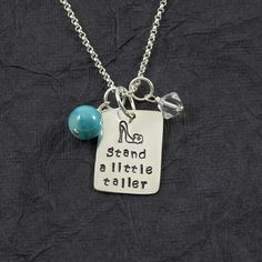 Stand a Little Taller necklace. Hand stamped sterling silver necklace by Heather Perrins Larson of Bella Ressa Boutique! (chain sold separately so you can pick what you like) #bellaressaboutique #handstampedjewelry #PiperBarnShow
