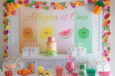Fiesta de tutti frutti para niños
