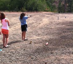 Learning our to shoot a BB Gun!!!