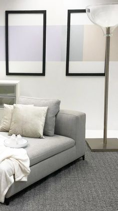 Award Winning, Creative, Modern & Innovative, Garry Cohn knows design. If you're looking for a quality interior designer then look no further. Painted Walls, Pastels, Modern Furniture, Architecture Design, Frames, Minimal, Relax, Couch, Colour