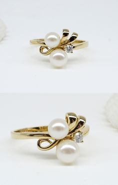 pearl ring. Not sure if I want two pearls, but I still like this!