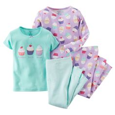 4-Piece Snug Fit Cotton PJs