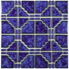 Merola Tile Osaka Blue Cloud 11-3/4 in. x 11-3/4 in. x 5 mm Porcelain Mosaic Tile-FKOOKA34 - The Home Depot