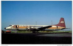 Thème -  Avion - Mary Jayne´s RS 894 - Air Express International Airlines - Canadair CL 44D4 2 -  Format 8.5*13.5  Cm - 1946-....: Ere Moderne
