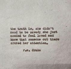 She didn't need to be saved